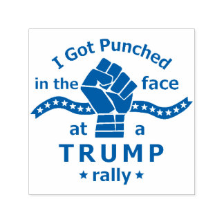 Anti Donald Trump Funny Punched in Face Self-inking Stamp