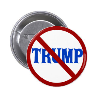 Anti Donald Trump Red Circle X 6 Cm Round Badge