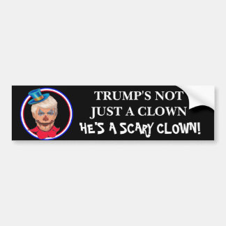 Anti Donald Trump Scary Clown Bumper Sticker