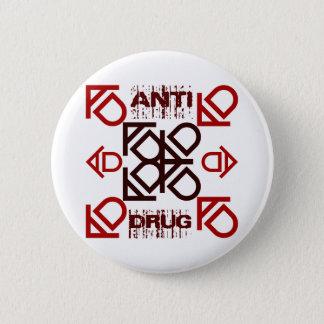 anti drug 6 cm round badge