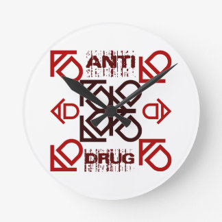 anti drug round clock