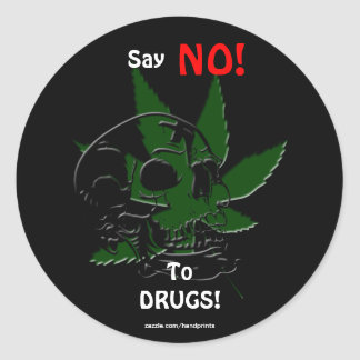 Anti-Drug Skull and Pot Plant Campaign  Stickers
