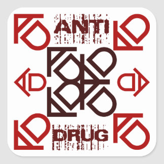 anti drug square sticker