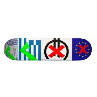 Anti EU Euro Pro Greece Drachma 1 Skate Boards