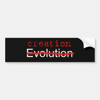Anti Evolution Bumper Sticker