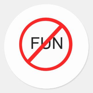 Anti-Fun Classic Round Sticker