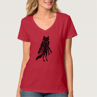 ANTI FUR T-SHIRT blfox women's v red