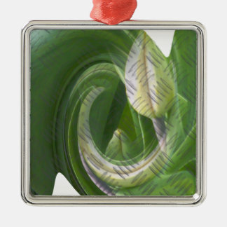 anti-glamorous tulips square metal christmas ornament