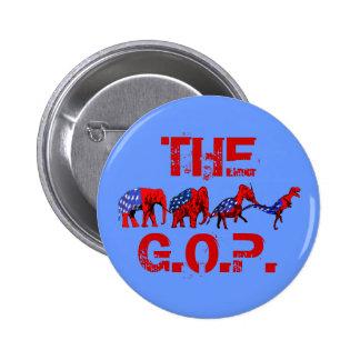 Anti-GOP Anti-Republican Evolution Satire 6 Cm Round Badge