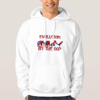 Anti-GOP Anti-Republican Evolution Satire Sweatshirts