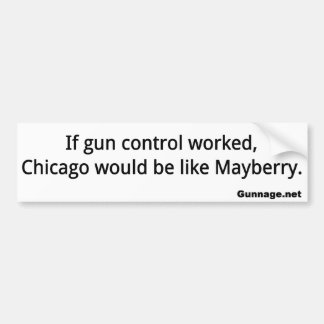 Anti Gun Control Bumper Sticker - Chicago - Black