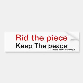 Anti gun slogans bumper sticker