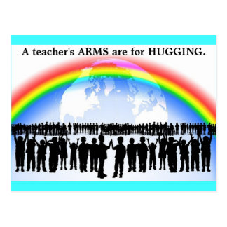 Anti Guns Postcards teacher's ARMS are for HUGGING