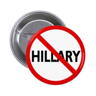 Anti Hillary 6 Cm Round Badge