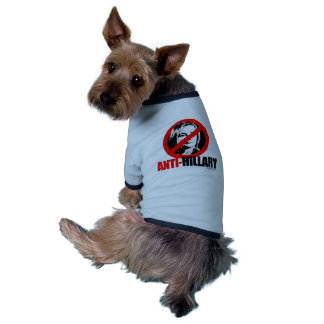ANTI-HILLARY BOLD - Anti Hillary png.png Dog Clothing