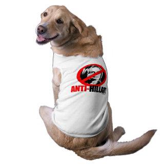 ANTI-HILLARY BOLD - Anti Hillary png.png Sleeveless Dog Shirt