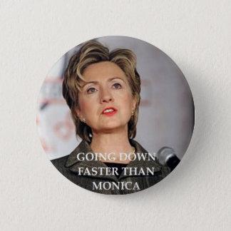 anti hillary clinton 6 cm round badge