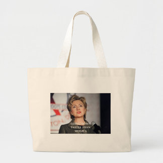anti hillary clinton large tote bag
