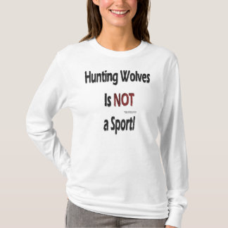 Anti-Hunting Wolves Ladies Long Sleeve Shirt