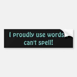 Anti-Ignorance Promomtional Bumper Sticker