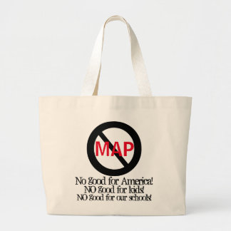 Anti MAP School Assessment Tests Large Tote Bag