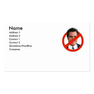 ANTI MITT ROMNEY BUSINESS CARD TEMPLATE