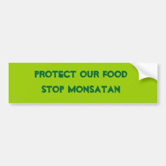 Anti Monsanto Bumper Sticker