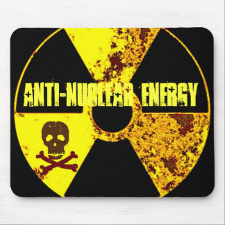 ANTI-NUCLEAR ENERGY PROTEST MOUSE PAD