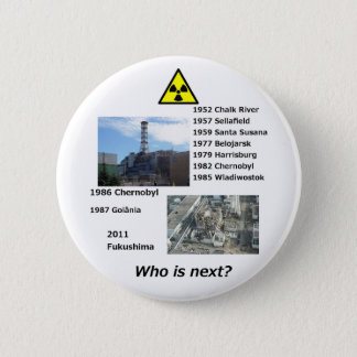 "Anti nuclear power button ""Who is next?"""