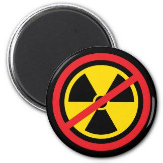 Anti nuclear power radiation symbol fridge magnet