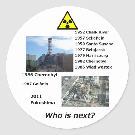 "Anti nuclear power sticker ""Who is next?"""