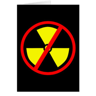 Anti-Nuclear Symbol Greeting Card