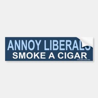 "anti Obama ""Annoy Liberals, Cigar"" Sticker"