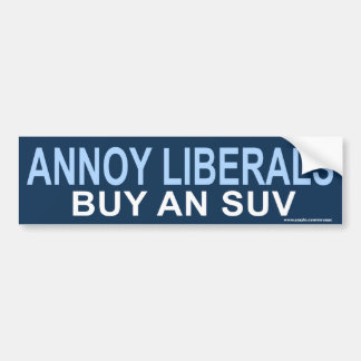 "anti Obama ""Annoy Liberals SUV"" Sticker"