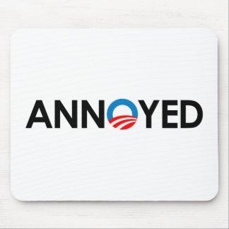 Anti-Obama - Annoyed black Mouse Pad