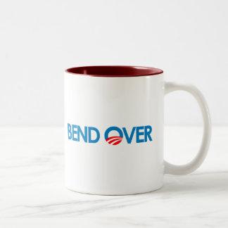 Anti-Obama - Bend Over Two-Tone Mug