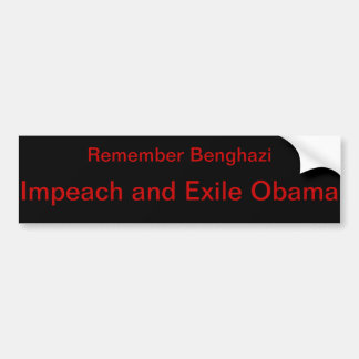 Anti-Obama Benghazi Bumper Sticker
