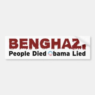 Anti-Obama Benghazi Bumper Sticker