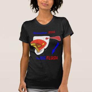Anti Obama Big Flush Dark Background Tee Shirt