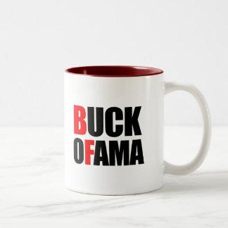 Anti-Obama - BUCK OFAMA 2 black Mug