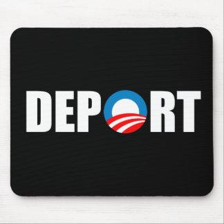 Anti-Obama bumper sticker - Deport Obama Now Mouse Pad