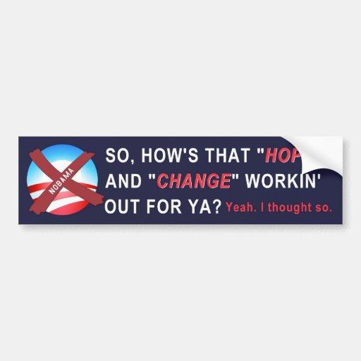 Anti-Obama Bumper Sticker (navy)