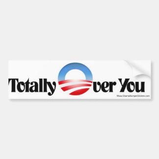 "Anti Obama Bumper Sticker ""Totally Over You"""