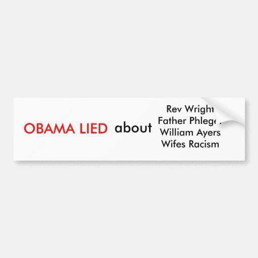 Anti Obama Car Bumper Sticker
