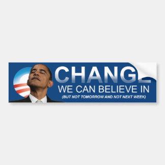 Anti Obama Change Bumper Sticker