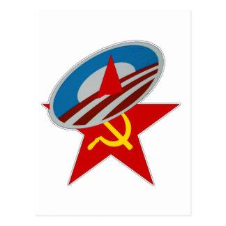 ANTI OBAMA COMMUNIST /SOCIALIST STAR SYMBOL POSTCARD