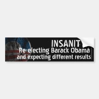 Anti-Obama Debate Insanity Bumper Sticker