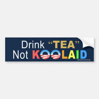 "anti Obama ""Drink Tea Not Koolaid"" Sticker"