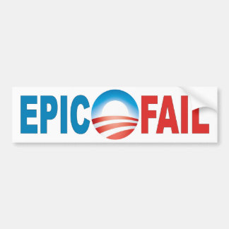 Anti-Obama Epic Fail bumper sticker