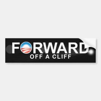 Anti Obama - Forward - off a clif Bumper Sticker